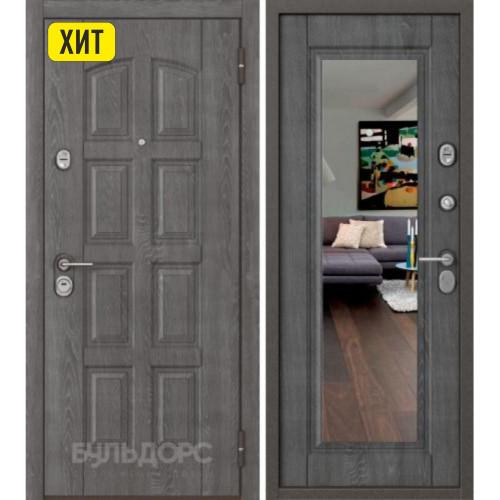 Входная дверь Бульдорс STANDART 70 Дуб графит 7S-103/ Дуб графит M-140, mirror (букле шоколад)