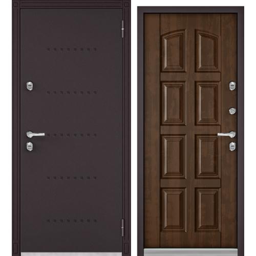 Дверь Бульдорс Термо 100 (Termo 100) Букле шоколад/Грецкий орех