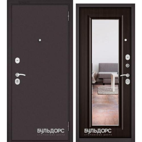 Бульдорс-ECONOM Ларче шоколад E-140, mirror, 2 замка и задвижка